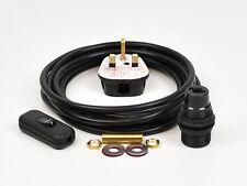 Lamp Wiring Kit Black Plastic Bulb Holder E14 SES With Switch 3m Flex Cable Plug