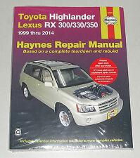 Manuale Riparazione Toyota Highlander + Lexus Rx 300/330/350, Bauj. 1999-2014