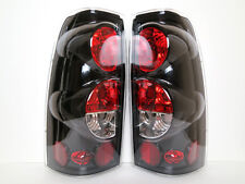03-06~Chevrolet~Chevy~Silverado~1500~2500~3500~HD~Tail~Lights~Lamp~Black~Clear~