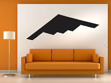 "B2 Stealth Bomber Airplane Wall Decal Vinyl Aviation Sticker 30"" x 8"" Home Decor"
