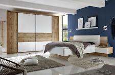 Schlafzimmer Komplett Set 4-tlg. San Marino weiß Wildeiche