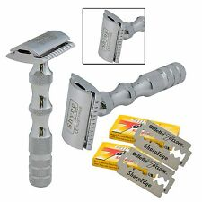 Men's Shaving De Safety Razor Stainless Steel Handle Double Edge Safety Razor
