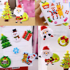 Kids Christmas Favors Stickers 3D Puffy DIY Scrapbooking Party Crafts Toys Gifts