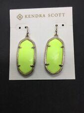 Kendra Scott ELLE Neon Yellow Earrings - NWT
