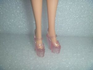 Barbie Shoes - Stiletto Heel Platform OOAK Translucent Glitter Pink HTF