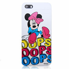 For iPod Touch 4 Minnie Mouse OOPS Disney TPU Silicone Cover Case White
