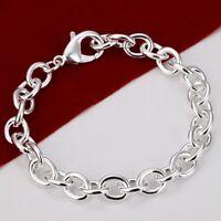 ASAMO Damen Herren Armband 925 Sterling Silber plattiert A1089