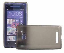 Silikon Case für HTC Windows Phone 8X in transparent schwarz Skin Handy Hülle