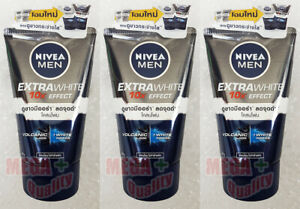 3 x 100 g. NIVEA FOR MEN EXTRA WHITENING PORE MINIMIZER MUD FACIAL FOAM 10 IN 1