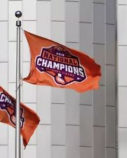 Clemson Tigers 2018 National Championship Flag 3 x 5 Orange Banner Football Cfp