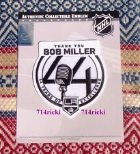 Official NHL Los Angeles Kings Bob Miller 44 Years Excellence Retirement patch