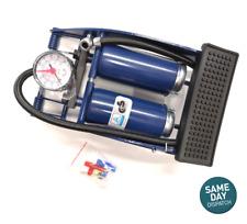 Double Barrel Cylind Tyre Foot Pump Air Inflator for Car Van Bike Air Mattresses