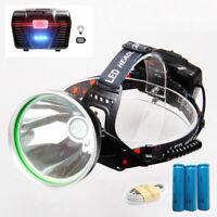 P50 LED Headlamp Headlight usb Rechargeable 18650 Battery Head lamp Torch light