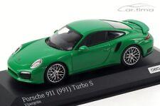 1:43 MINICHAMPS 2013 PORSCHE 911 (991) Turbo S green LE 200 pc cartima Exclusive