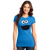 Sesame Street Cookie Monster Silly Face Junior Women's T-Shirt