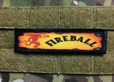 1x4 Fireball Whiskey Morale Patch Military Tactical Army Flag USA Funny Badge