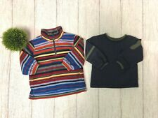 Boys 18 Month Lot of 2 Sweaters 1/4 Zip Talbots Kids Navy Cradle Togs