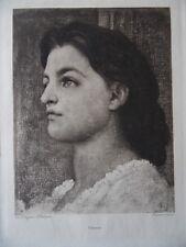 Portrait Vittoria, Paul Dujardin Heliogravure aft Frederick Leighton. c1900