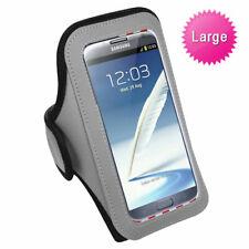 Gray Black Sports Gym Running Jogging Walking Armband Case Phone Holder Strap