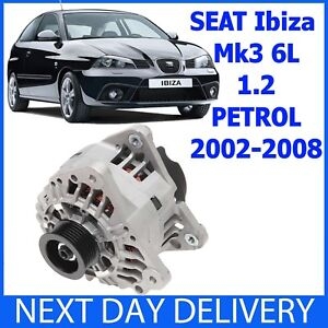 SEAT Ibiza MK3 (6L) 1.2 PETROL 2001-2008 NEW 90amp ALTERNATOR
