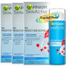 3x Garnier Moisture BOMB DAY Face Cream Moisturiser SPF10 50ml