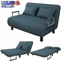 Convertible Sofa Bed Fold Arm Double Chair Sleeper Leisure Recliner Lounge Couch