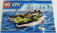 LEGO City Race Boat (60114) MANUAL ONLY