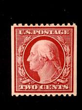 U S stamps Scott 386 two cent Washington coil perf 12 sl watermk. mint cv260.00B