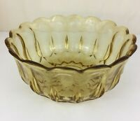Anchor Hocking Fairfield Amber Glass Salad Bowl