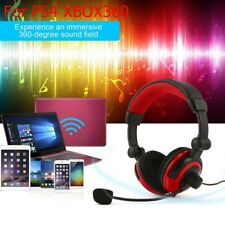 For PS4 XBOX360 Notebook Desktop Phone Crystal Stereo Gaming Headphone Headset