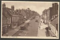 Postcard Lymington New Forest Hampshire early view High Street Hill shops