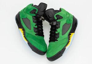 Nike Air Jordan Retro V 5 SE Oregon Ducks 2020 Apple Green Yellow CK6631-307 Men