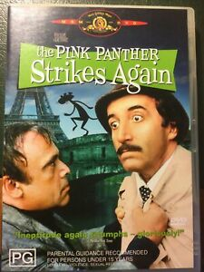 The Pink Panther Strikes Again DVD - Peter Sellers - Region 4 Like New