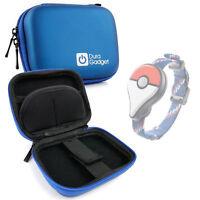 Premium Quality Blue Hard EVA Shell Case w/ Carabiner Clip for Pokemon GO Plus