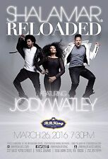 "Shalamar / Jody Watley ""Reloaded"" 2016 New York Concert Tour Poster-Pop, Hip Hop"
