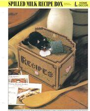 Spilled Milk Recipe Box  ~ plastic canvas pattern ~ Annie's
