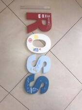 For Baby's Room Wooden Letters Name Ross Hand Painted