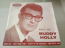 """BUDDY HOLLY Rave On 7"""" EP UK Coral FEP 2005 Take Your Time Early In The Morning"""