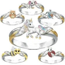 6 Styles Women Chic 925 Silver White Sapphire Animal Ring Wedding Jewelry Rings
