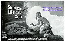 Steckenpferd Seife Reklame 1907 Faun Bergmann Radebeul Werbung Lilienmilch