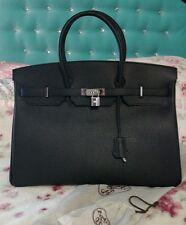 Hermes Birkin 40 handbag black leather excellent spotless condition