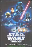 EMPIRE STRIKES BACK MOVIE POSTER STAR WARS TRILOGY 1994 Original Video One Sheet