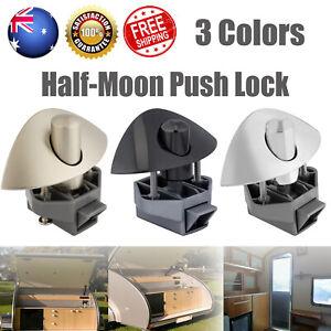 5-20Pcs Half Moon Handle Caravan Cupboard Drawer Zinc Alloy Push Lock Latch Knob