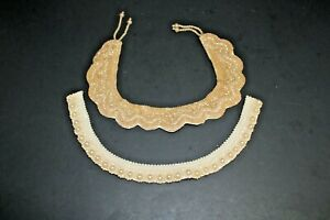 Vintage Beaded Collars Lot of 2, One with Glentex tag, One un tagged.