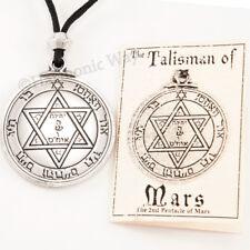 TALISMAN of MARS Magic Solomon Seal Amulet Pentacle Protection Pendant Necklace