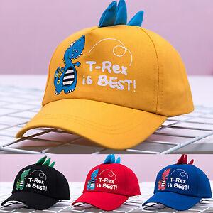 Boys Girl Baseball Cap Dinosaur Children Kids Sun Hat Fashion Adjustable Summer!