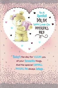 MUM ~ FABULOUS EX-LARGE MOTHER'S DAY Card - 8 PAGE INSERT Mothers Bear
