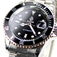 Business Men's Date Stainless Steel Band Automatic Mechanical Sport Wrist Watch