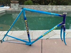 Daccordi Opera Bicycle Frameset Blue 56 cm Steel Tubes 700c Racing Bike Frameset