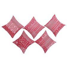 5 Pcs Set Beautiful Kantha Handmade Cushion Cover Throw Pillow Case Decor